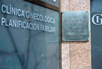 Fachada de la clínica Ginetec en Barcelona